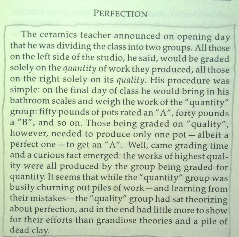 A fable on perfection
